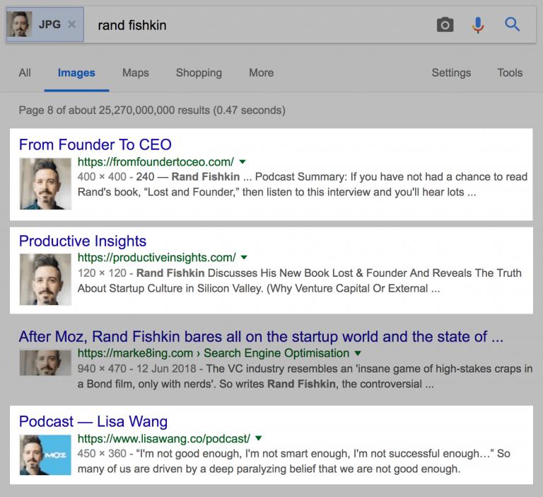 """Rand Fishkin"" поиск изображений Google."