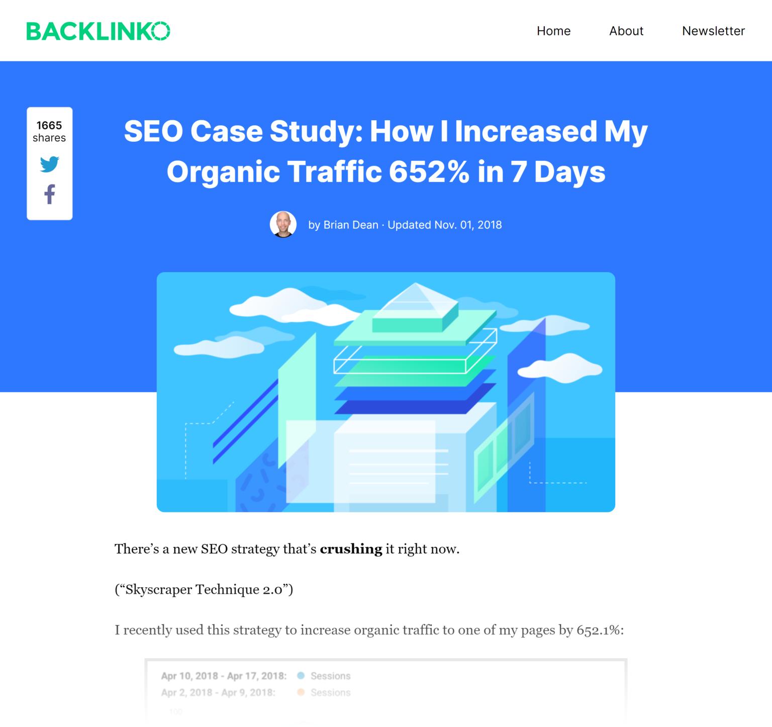 Backlinko - Техника небоскреба 2.0