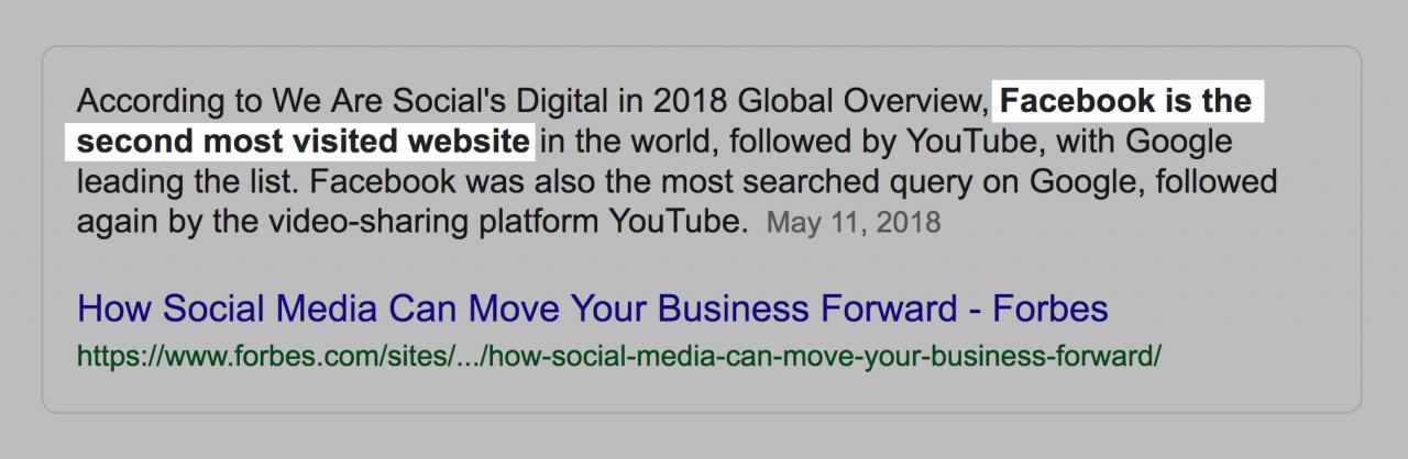 Facebook - второй самый посещаемый сайт